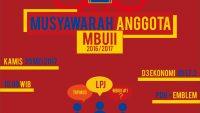 MUSYAWARAH ANGGOTA MBUII 2016/2017